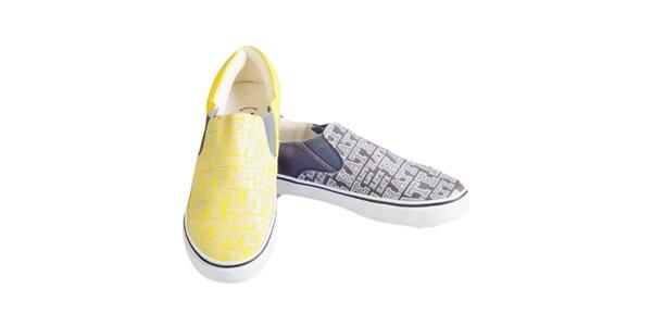 Dámske dvojfarebné topánky s potlačou The Bees