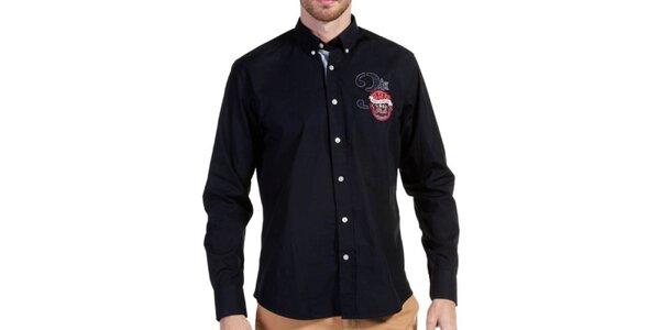 Pánska temno modrá košeľa Galvanni