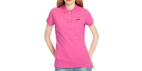 Dámske polo tričko vo fuchsiovej farbe Galvanni