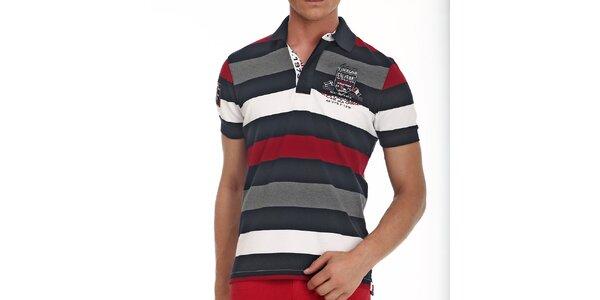 Pánske polo tričko s prúžkami v rôznych farbách Galvanni