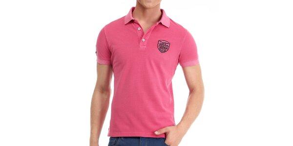 Pánske ružové polo tričko Galvanni
