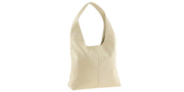 Dámska kožená béžová kabelka cez rameno Tina Panicucci