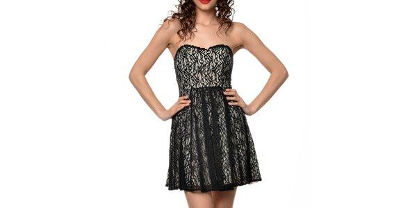 Dámske béžovo-čierne šaty Dia Vynne