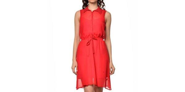Dámske červené košeľové šaty Dia Vynne