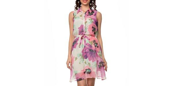Dámske farebne vzorované košeľové šaty Dia Vynne