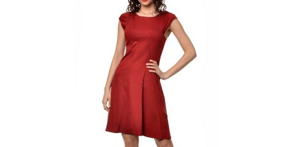 Dámske červené šaty s rukávmi Dia Vynne