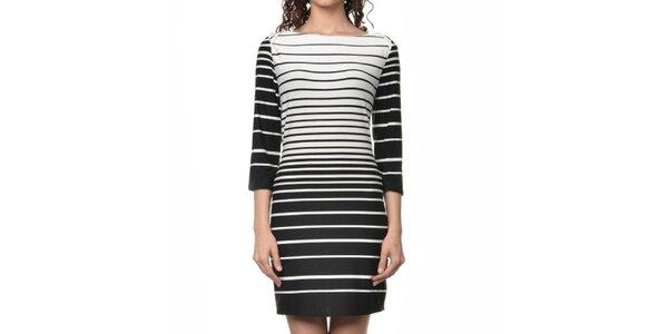 Dámske čierno-biele pruhované šaty Dia Vynne