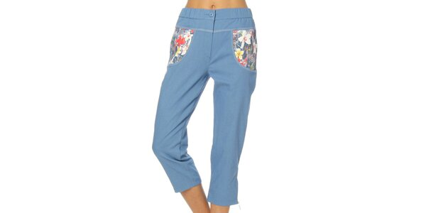 Dámske svetlo modré nohavice Squise