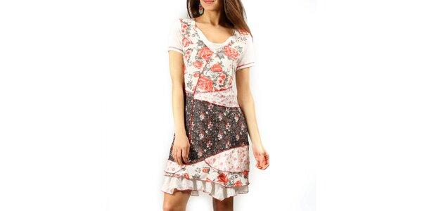 Dámske šaty s kvetinovou potlačou Squise