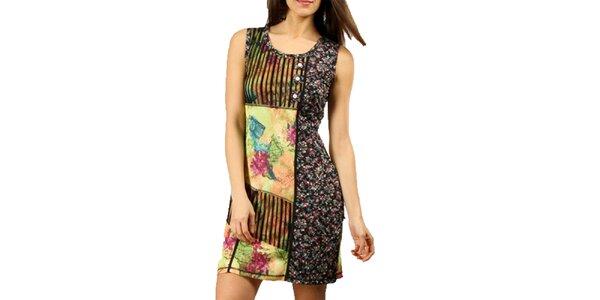 Dámske farebné šaty bez rukávov Squise