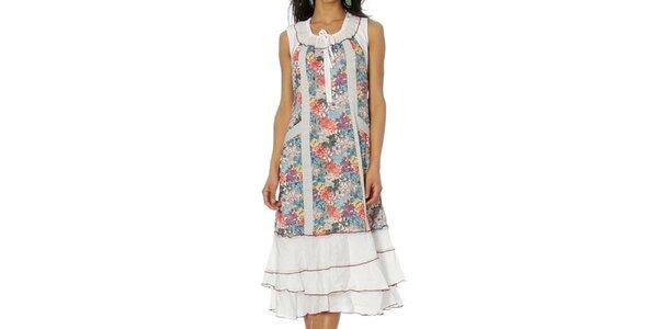 Dámske biele volánikové šaty Squise