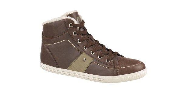 Dámske tmavo hnedé zimné členkové topánky Head