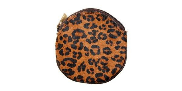 Dámska leopardia peňaženka na mince Hope
