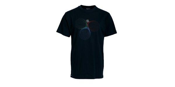 Pánske čierne tričko Chico s potlačou
