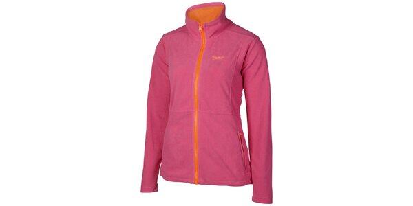 Dámska ružovo-oranžová športová fleecová mikina Chiemsee