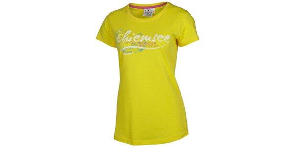 Dámske žlté tričko s potlačou Chiemsee