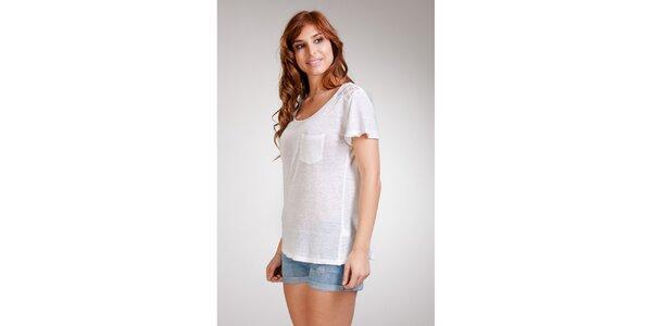 Dámske biele ľanové tričko Stix