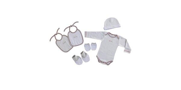 Biely novorodenecký set Naf Naf - 6 ks