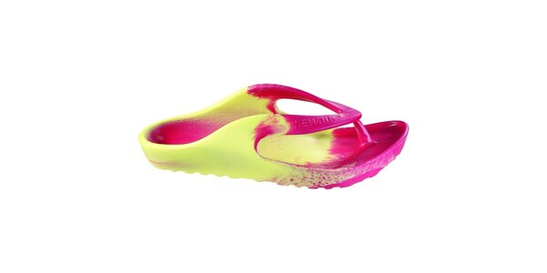 Pánske ružovo-žlté žabky Newalk