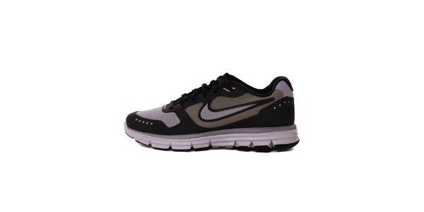 Pánske šedo-čierne běžecké tenisky Nike