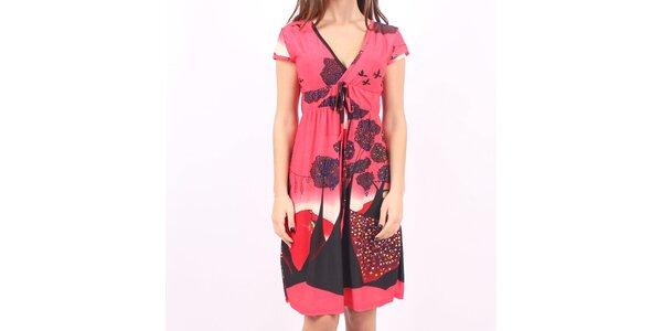 Dámske ružové šaty Smashed Lemon s potlačou
