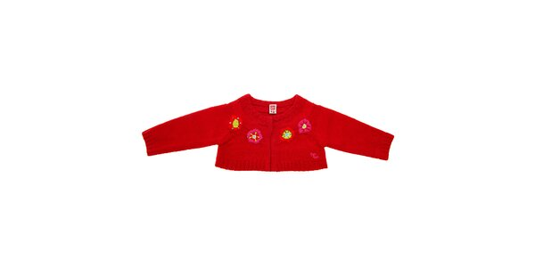 Detské červené bolerko Tuc Tuc s kvetinkami