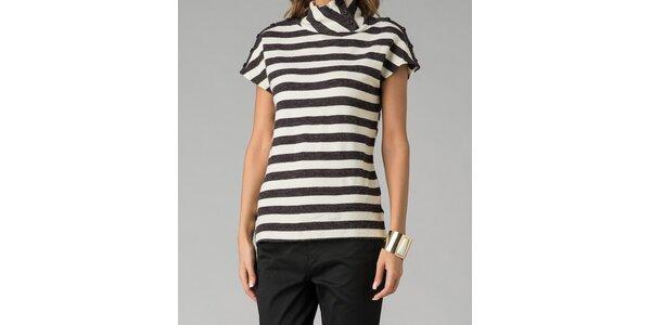 Čierno-bielo pruhovaný svetrík Twist