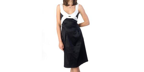 Dámske čierno-biele šaty Avantgard