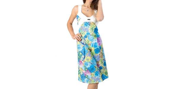 Dámske šaty s kvetinovým vzorom Avantgard