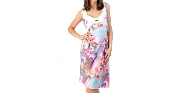 Dámske farebné šaty s kvetinovou potlačou Avantgard