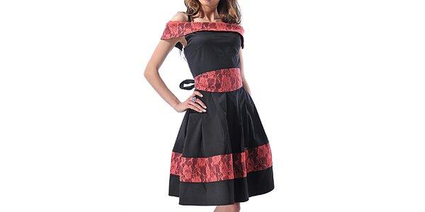 Dámske čierne lesklé šaty Female Fashion
