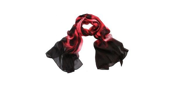Dámska červeno-čierna šatka Giancarlo Bassi