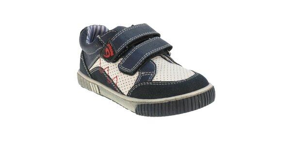 Detské modro-biele topánky Beppi