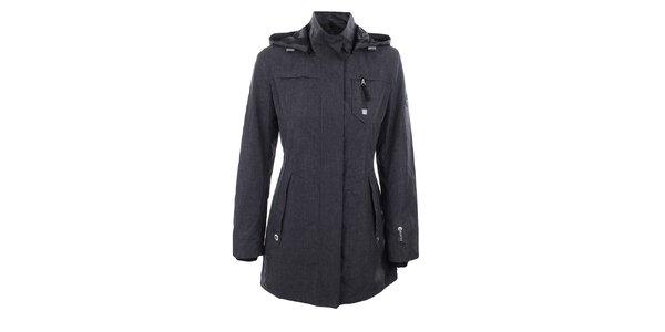 Dámska tmavo šedá bunda so stojáčikom Halifax