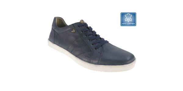 Pánske tmavo modré kožené topánky Beppi