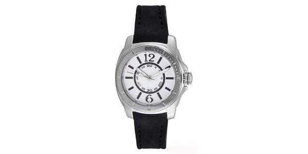 Dámske oceľové hodinky s čiernym silikónovým remienkom Tommy Hilfiger