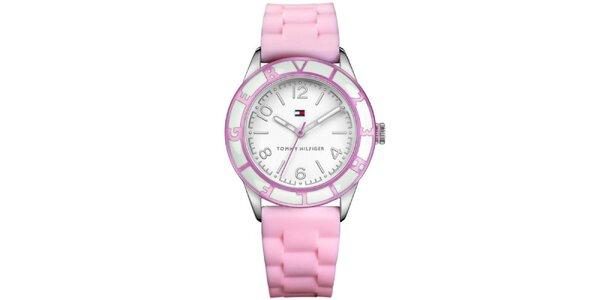 Dámske ružové hodinky Tommy Hilfiger
