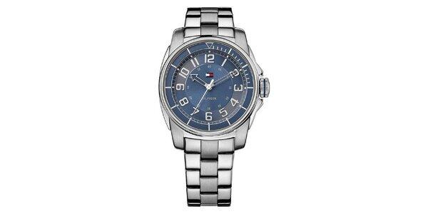 Dámske oceľové hodinky s modrým ciferníkom Tommy Hilfiger
