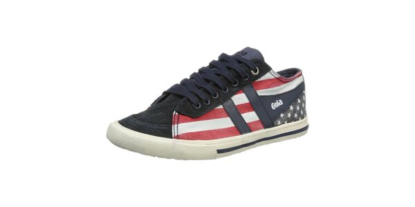 Dámske tenisky s motívom americkej vlajky Gola