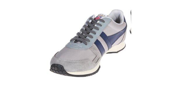 Pánske šedé tenisky s tmavo modrými prvkami Gola