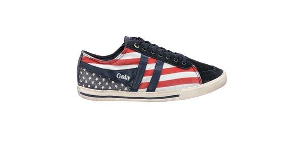 Pánske tenisky s americkou vlajkou Gola