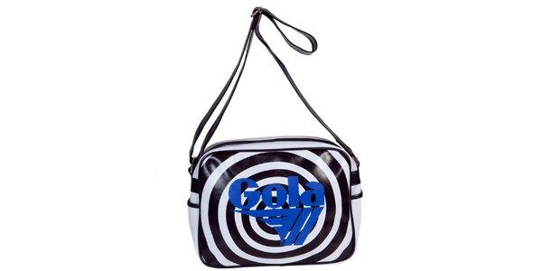 Retro čierno-biela taška s nápisom Gola