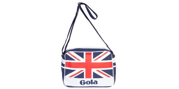 Retro taška s nápisom a vlajkou Gola