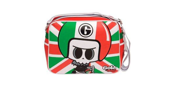 Pestrofarebná kabelka s postavičkou Gola