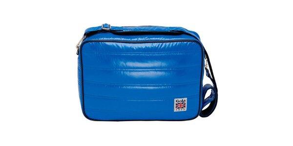 Modrá lesklá taška cez rameno Gola