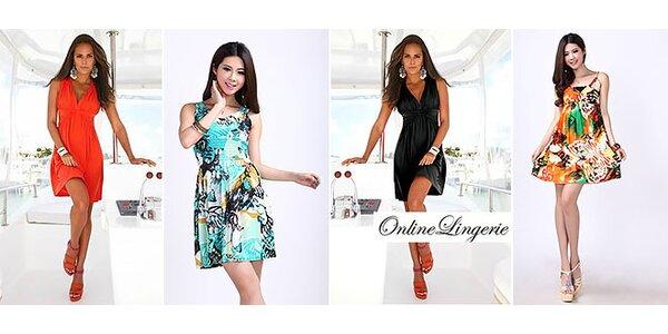 Dámske farebné šaty so vzorom aj s dodaním