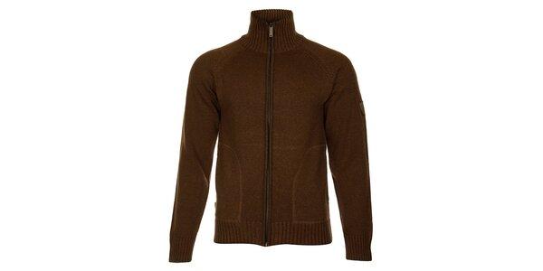 Pánsky hnedý sveter Bushman