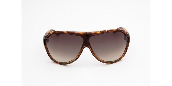 Dámske hnedo žíhané slnečné okuliare Diesel
