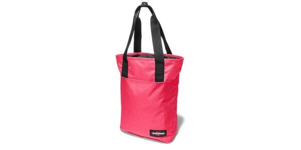 Dámska pastelovo ružová taška Eastpak s čiernymi detailmi