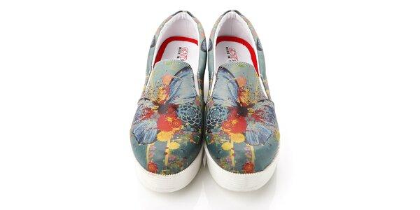 Dámske viacfarebné loafers na platforme Elite Goby